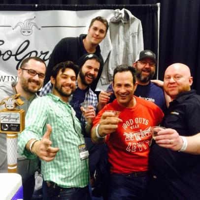 The Foolproof crew [Nick, center] with Sam Calagione, Jason, and Todd Alström