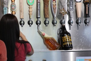 A growler fill station in Oregon