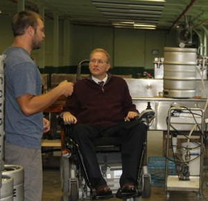 Congressman James Langevin with Wes Staschke at Whaler's Brewing